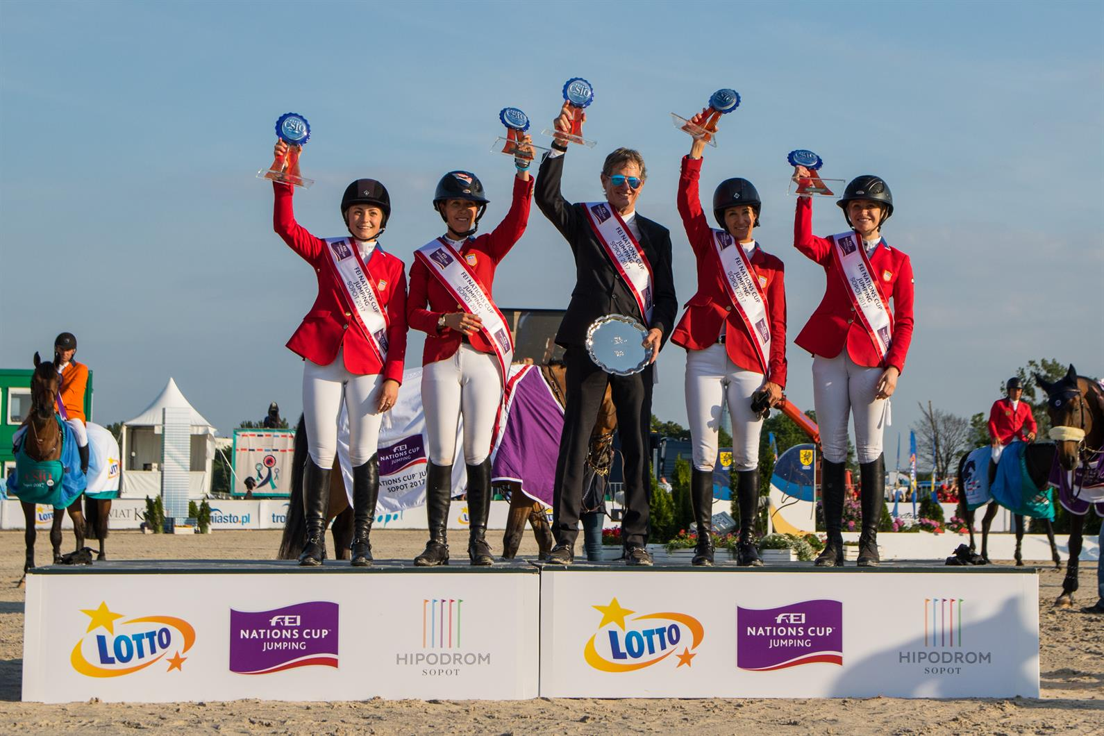 Herm 232 S U S Show Jumping Team Clinches Gold At Fei Nations