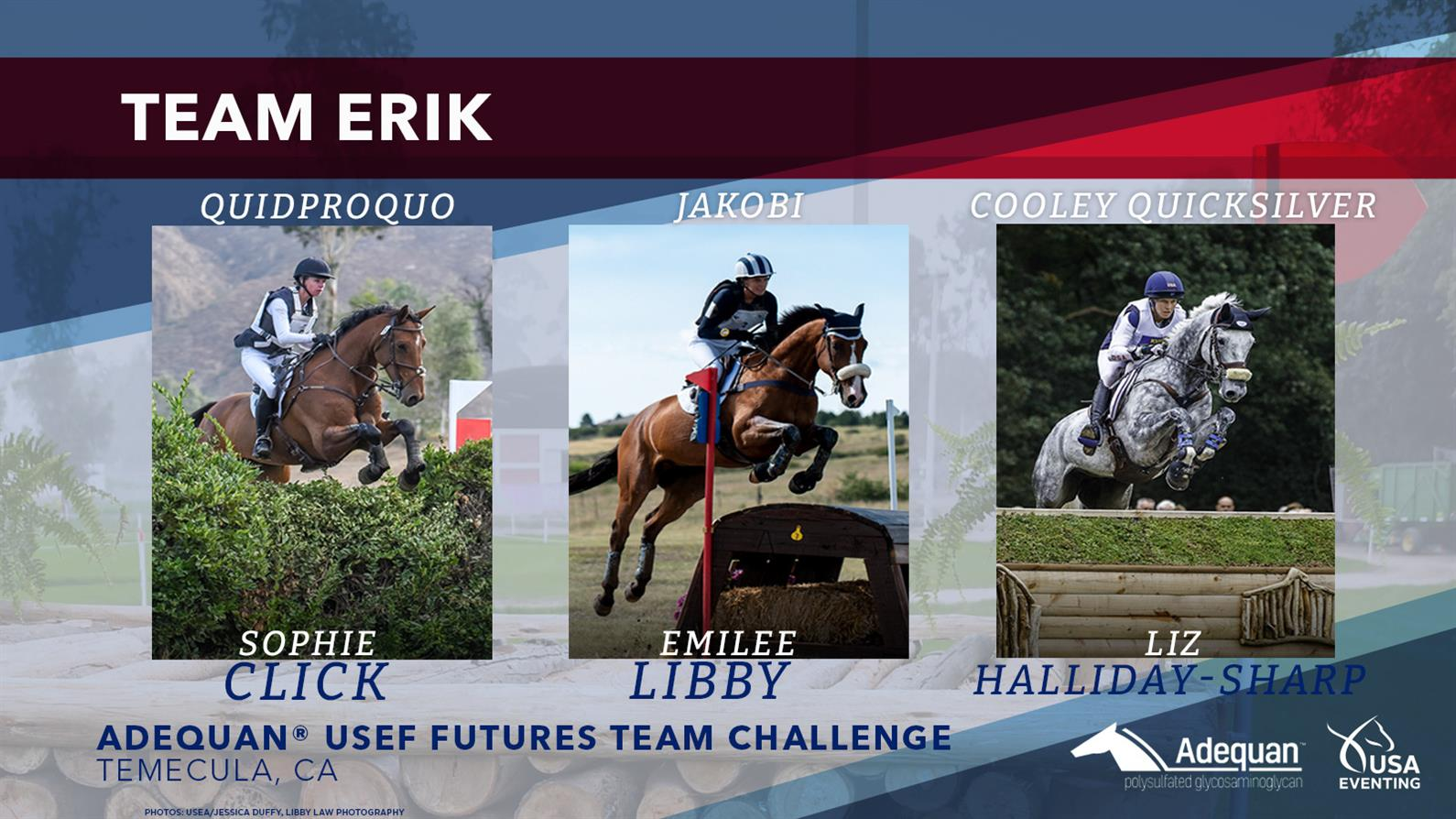 Erik Duvander's team for the USEF Futures Team Challenge West Coast