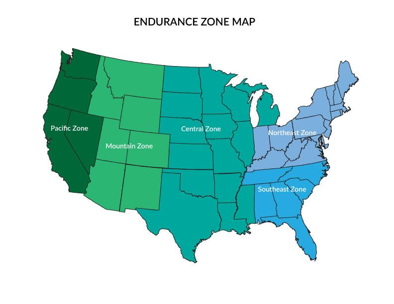 Zone Map | US Equestrian