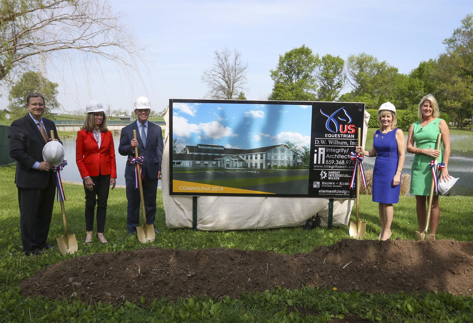 Tandy C  Patrick Recognized In Groundbreaking for Kentucky Horse