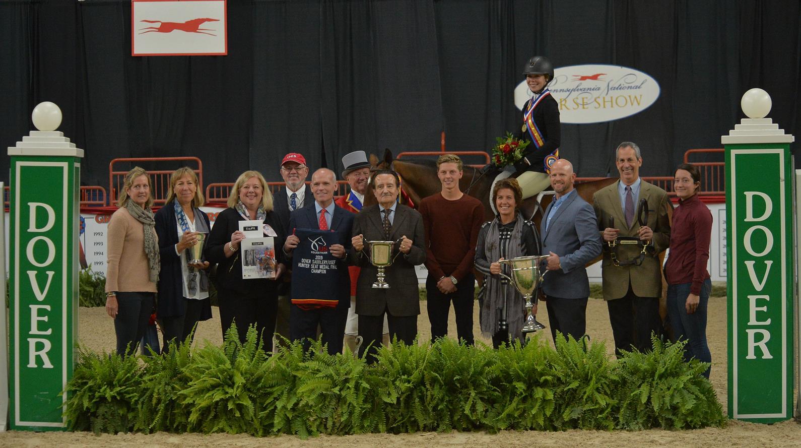 Emma Fletcher, 2019 Dover Saddlery/USEF Hunter Seat Medal Final champion, riding Bournedale