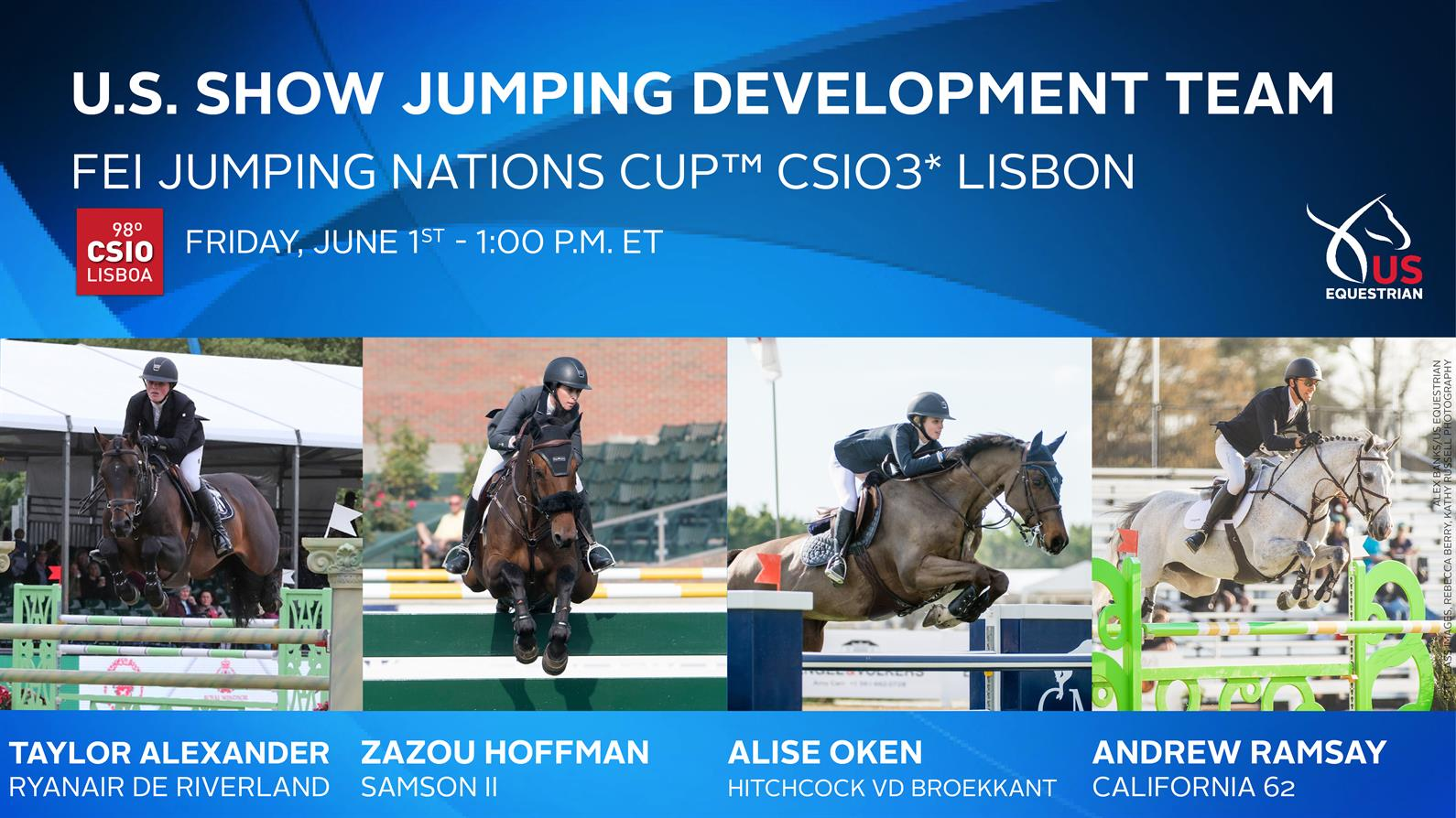 U S Show Jumping Development Team Ready To Shine In Fei