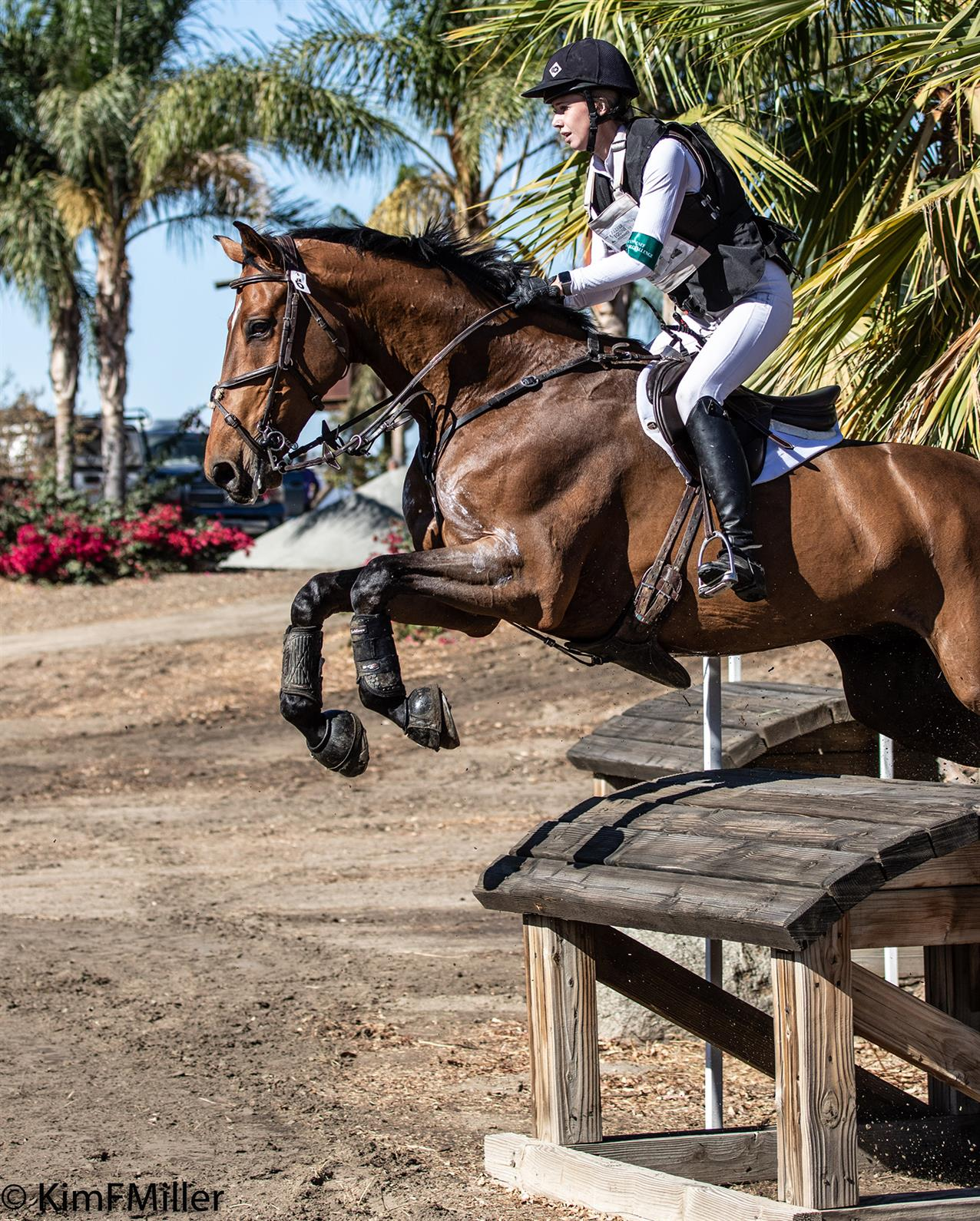 Sophie Click and Quidproquo on cross country at Galway Downs