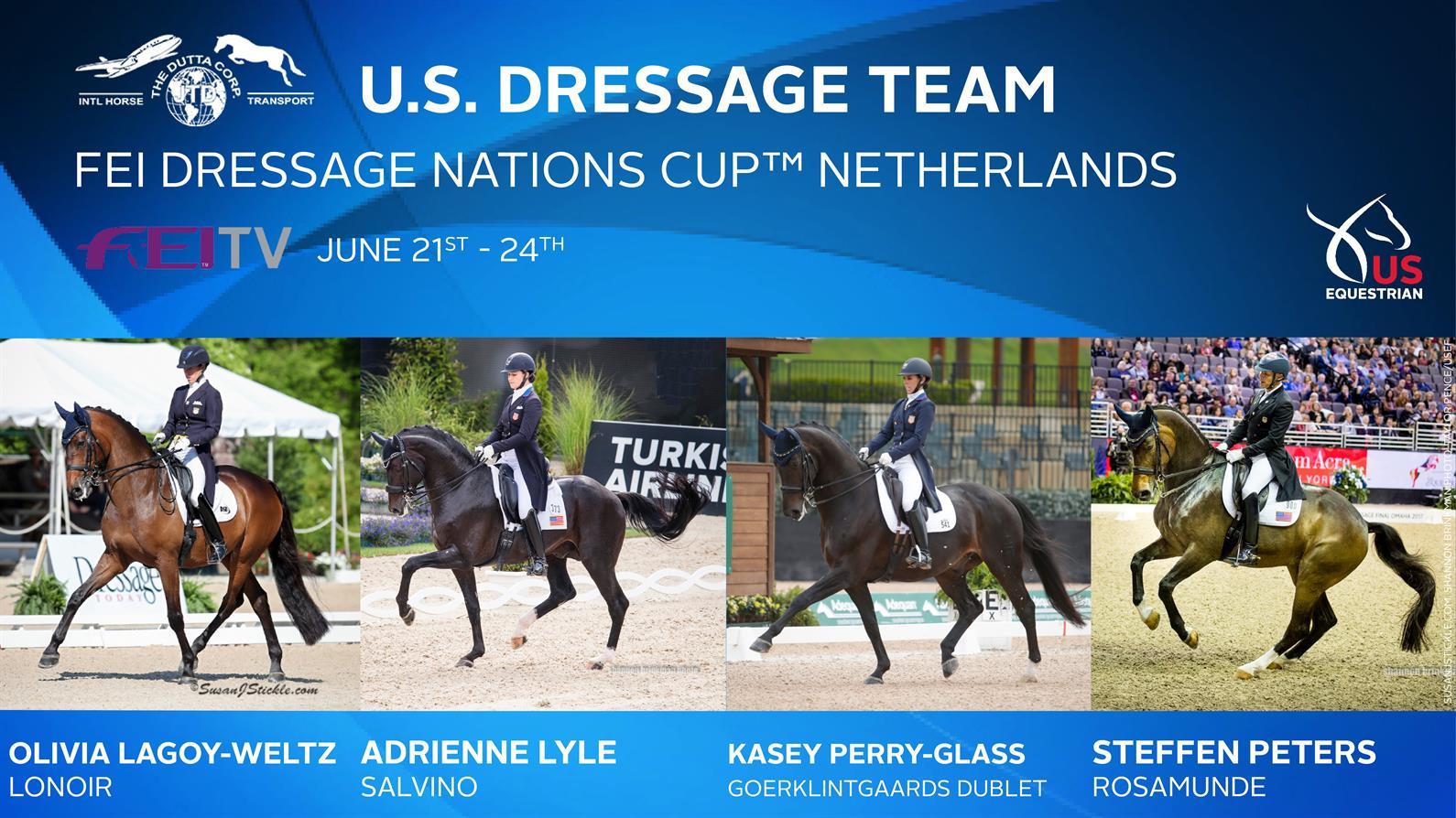Us Equestrian Names The Dutta Corp U S Dressage Team For