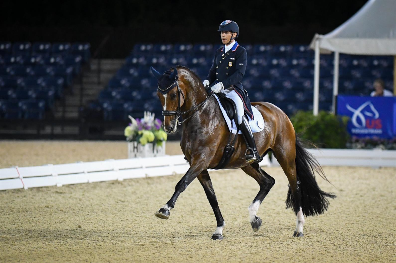 Steffen Peters and Suppenkasper performing at the U.S. Dressage Mandatory Event in Wellington, Fla.