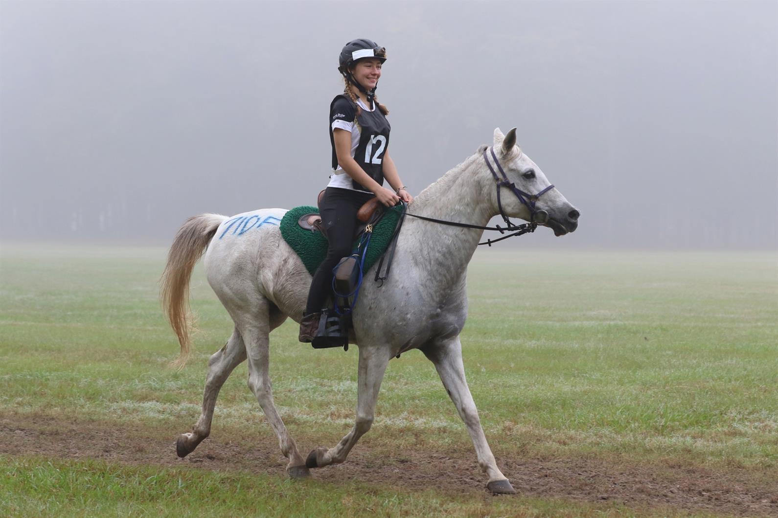 Katie Bumgarner riding Nazeems Flashy Rose