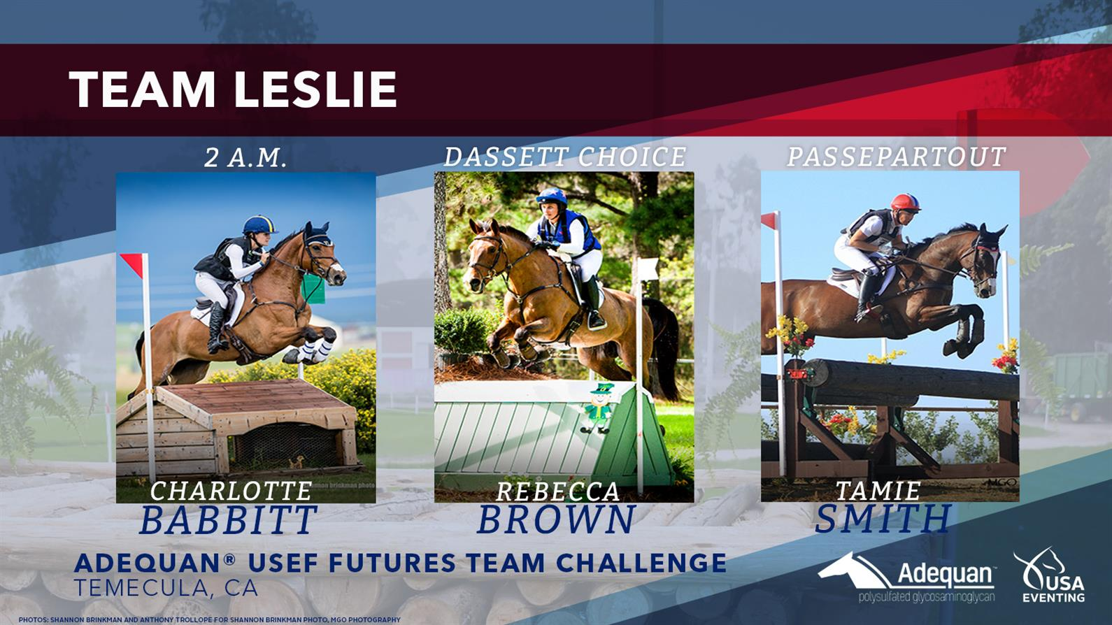 Leslie Law's team for the Futures Challenge West