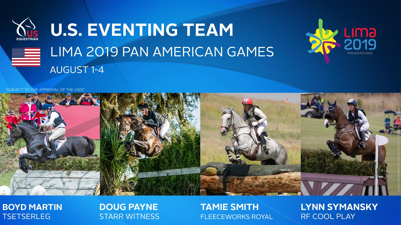 US Equestrian Nominates U.S. Eventing Team for Lima 2019 Pan American Games